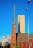 Red Church in downtown Milwaukee Royalty Free Stock Photos