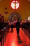 Red Church Interior royalty free stock photos