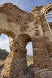 Red Church - large partially preserved late Roman early Byzantine Christian basilica near town of Perushtitsa, Bulgaria Stock Photos