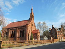 Red Church, Lithuania Stock Photography