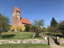 Free Red Church On A Hill In Poland, Slawsko Royalty Free Stock Photography - 145602377