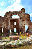 Red church ruins. The Red Church is the Early Medieval , early Byzantine basilica built in the V-VI century AD near Perushtitsa,Plovdiv district .A monument of royalty free stock photos