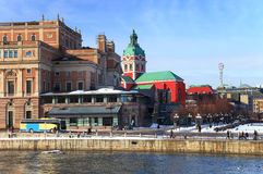 Red church in Stockholm Stock Photography