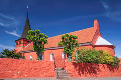 The red church Svaneke Kirke Royalty Free Stock Photo