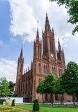 Church in Wiesbaden Hesse, Germany. Red Church Wiesbaden Hesse, Germany stock photography