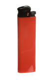 Red cigarette lighter Stock Photos