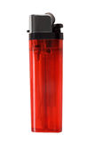 Red cigarette lighter Royalty Free Stock Photos