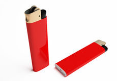 Red cigarette lighter Royalty Free Stock Image