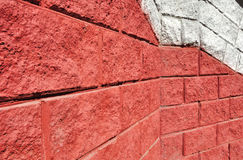 Red cinderblock wall background texture Royalty Free Stock Photography