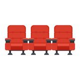 Red cinema chairs Royalty Free Stock Image
