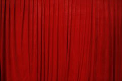 Red Cinema Curtain. Picture of a red cinema curtain Stock Photos