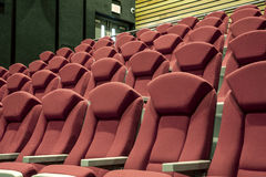 Red cinema or theater seats Royalty Free Stock Images