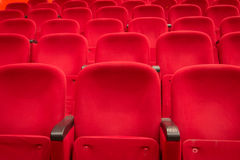 Red cinema or theatere seats Royalty Free Stock Photos