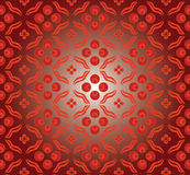 Red cintemani pattern Stock Photo
