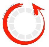 Red Circle Arrows Royalty Free Stock Photography