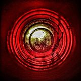 Horror, background, illustration. Footage. Red circle. Horror, background, illustration. Footage Royalty Free Stock Image