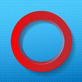 Red circle on blue background Royalty Free Stock Photos