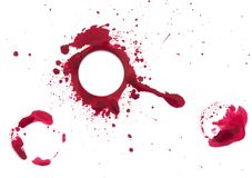 Red circle, brush stroke texture. Isolated. Round circle frame as a design element, made with a paint stroke Royalty Free Stock Photos
