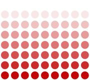 Red circle with color transition. White background and red circles with color transition stock illustration