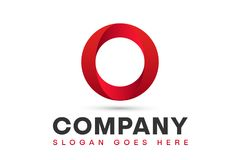 Red Circle Logo Design. Red Circle Corporate Logo Design Template Vector Illustration