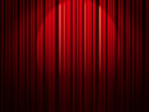Red circle curtain Stock Image