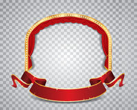 Red circle ellipse transparent Stock Photos