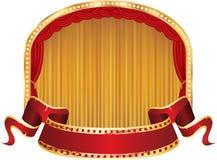 Red circle gold velvet Royalty Free Stock Photo