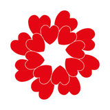Red circle heart Stock Photography