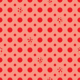 Red circle mushroom seamless pattern Stock Images