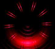 Red circle neon light Abstract background Stock Image