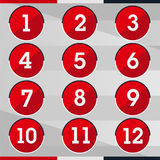 Red circle number Stock Photos