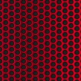 Red circle perforated metal grill vector pattern Royalty Free Stock Image