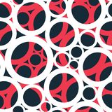 Red circle seamless pattern Royalty Free Stock Photo