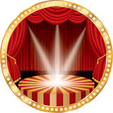 Red circle stage spots Stock Photography