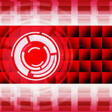 Red Circles Background Shows LP And Music Royalty Free Stock Photo