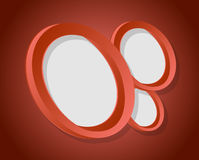Red circles graphic illustration design. Over a red background Stock Photos