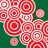 Red circles and green background Royalty Free Stock Photos