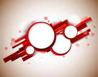 Red circles on lines. Abstract design Stock Photos