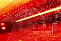 Red Circuit Stock Photography