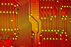 Red circuit. Background: red chip circuit concept Stock Image