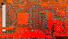 Red circuit board Royalty Free Stock Photos