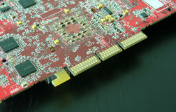 Red circuit board Royalty Free Stock Photo