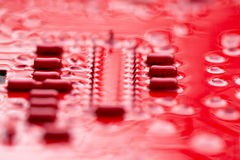Red Circuit Board Royalty Free Stock Image