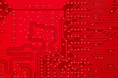Free Red Circuit Board Texture Background Of Computer Motherboard Stock Photos - 84045103