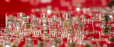 Red circuit city Stock Photography