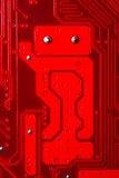 Red circuit robot. Funny red circuit robot, beckoning Royalty Free Stock Images