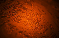 Red circuitry background Royalty Free Stock Images