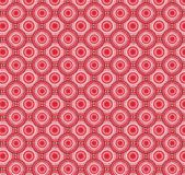 Red circular abstract figure pattern Royalty Free Stock Photos