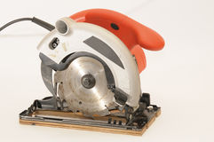 Red circular saw Royalty Free Stock Photos