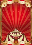 Red circus baroque frame Stock Image